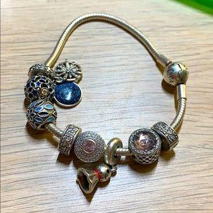 pandora charms and chain